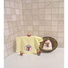 """Махровое полотенце 30х50 """"Новогодний"""" молочный, фото 1"""