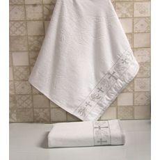 Полотенце крестильное махровое 70х140 серебро, фото 1