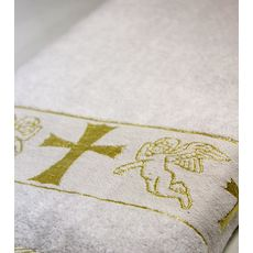Полотенце крестильное махровое 70х140 золото, фото 2
