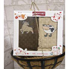 """Кухонное полотенце в упаковке 45x65*2 """"Бык""""-3, фото 3"""