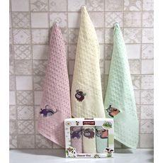 """Кухонное полотенце в упаковке 45x65*3 """"Бык""""-5, фото 2"""