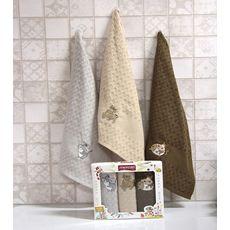 """Кухонное полотенце в упаковке 45x65*3 """"Бык""""-7, фото 1"""