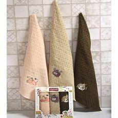 """Кухонное полотенце в упаковке 45x65*3 """"Бык""""-8, фото 1"""