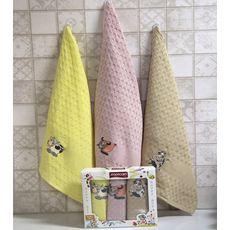 """Кухонное полотенце в упаковке 45x65*3 """"Бык""""-9, фото 1"""
