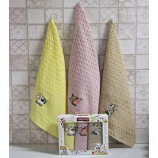 """Кухонное полотенце в упаковке 45x65*3 """"Бык""""-9, фото 2"""