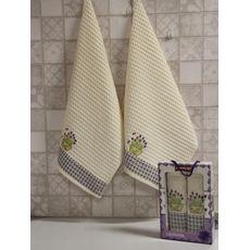 "Кухонное полотенце в упаковке 50x70*2 ""Лаванда"" молочный, фото 2"