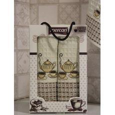 """Кухонное полотенце в упаковке 50x70*2 """"Кофе-1""""молочный, фото 3"""