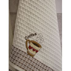 """Кухонное полотенце в упаковке 50x70*2 """"Кофе-2""""молочный, фото 2"""