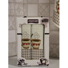 """Кухонное полотенце в упаковке 50x70*2 """"Кофе-2""""молочный, фото 3"""