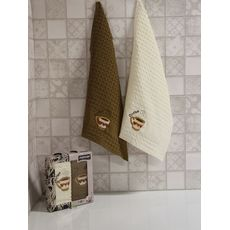 "Кухонное полотенце в упаковке 45x65*2 ""Кофе-1"", фото 1"