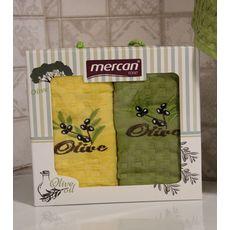 """Кухонное полотенце в упаковке 45x65*2 """"Олива-4"""", фото 2"""