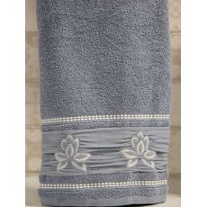 """Махровое полотенце 50х90 """"Flower"""" голубой, фото 2"""