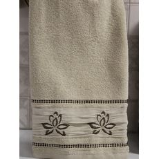 "Махровое полотенце 50х90 ""Flower"" кремовый, фото 2"