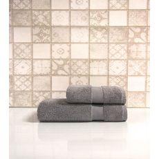 "Набор полотенец в пвх ""Sandra"" (50х90+70х140), серый, фото 1"