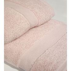 """Набор полотенец в пвх """"Sandra"""" (50х90+70х140), св.розовый, фото 1"""