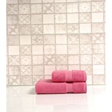 """Набор полотенец в пвх """"Sandra"""" (50х90+70х140), розовый, фото 1"""