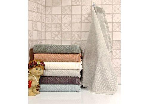 """Махровое полотенце c бахрамой 50х90 """"Castel"""" 6 шт, фото 2"""