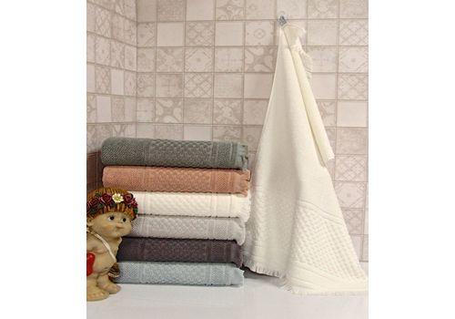 """Махровое полотенце c бахрамой 50х90 """"Castel"""" 6 шт, фото 4"""