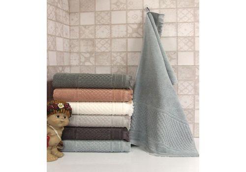 """Махровое полотенце c бахрамой 50х90 """"Castel"""" 6 шт, фото 5"""