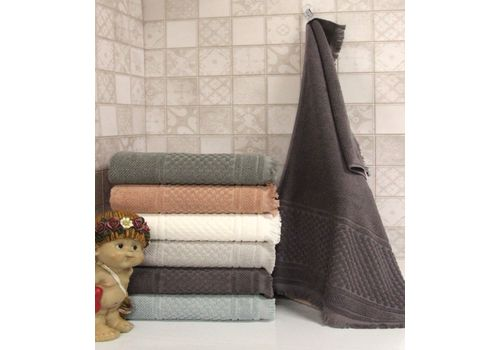 """Махровое полотенце c бахрамой 50х90 """"Castel"""" 6 шт, фото 6"""