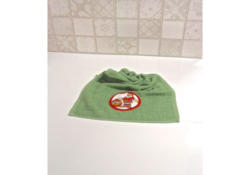"""Махровое полотенце 30х50 """"Новогодний"""" зеленый, фото 4"""