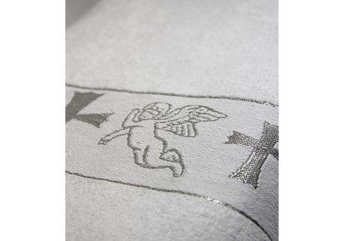Полотенце крестильное махровое 70х140 серебро, фото 2