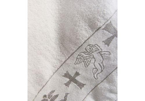 Полотенце крестильное махровое 70х140 серебро, фото 3