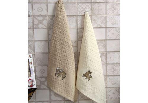 """Кухонное полотенце в упаковке 45x65*2 """"Бык""""-2, фото 2"""