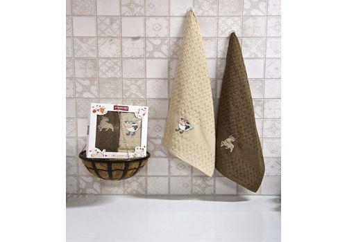 """Кухонное полотенце в упаковке 45x65*2 """"Бык""""-3, фото 1"""