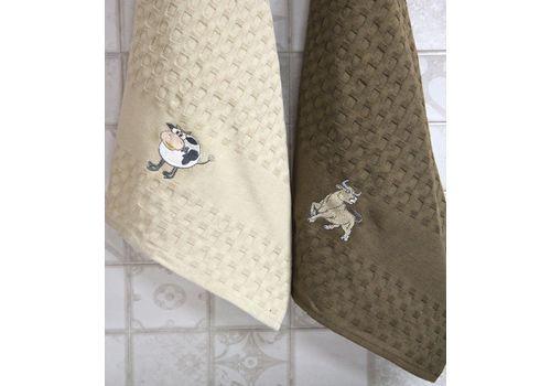 """Кухонное полотенце в упаковке 45x65*2 """"Бык""""-3, фото 2"""