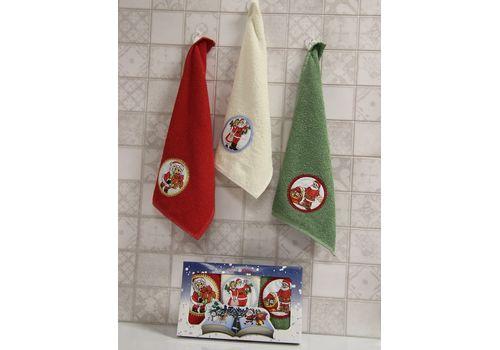 """Набор полотенец """"Дед мороз"""" (30х50*3), фото 1"""