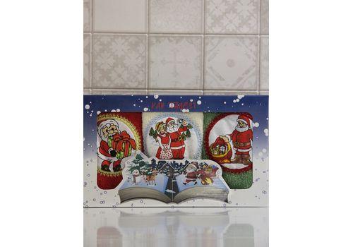 """Набор полотенец """"Дед мороз"""" (30х50*3), фото 3"""