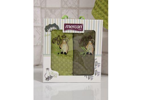 """Кухонное полотенце в упаковке 45x65*2 """"Олива-1"""", фото 2"""