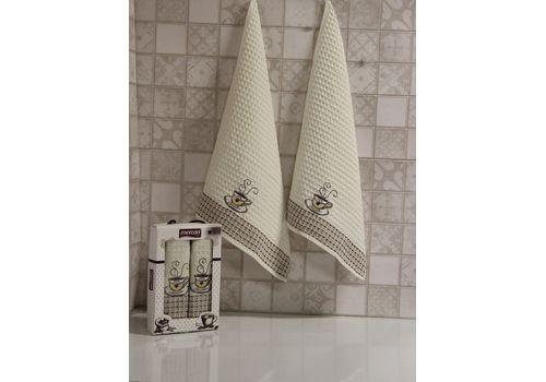"""Кухонное полотенце в упаковке 50x70*2 """"Кофе""""молочный, фото 1"""