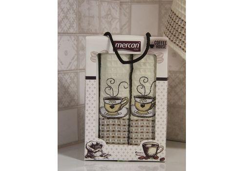 """Кухонное полотенце в упаковке 50x70*2 """"Кофе""""молочный, фото 3"""