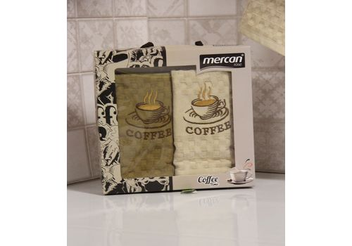 "Кухонное полотенце в упаковке 45x65*2 ""Кофе-2"", фото 3"