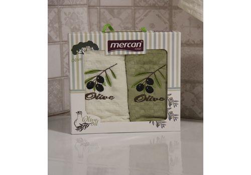 """Кухонное полотенце в упаковке 45x65*2 """"Олива-5"""", фото 2"""