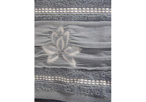 """Махровое полотенце 50х90 """"Flower"""" т.голубой, фото 2"""