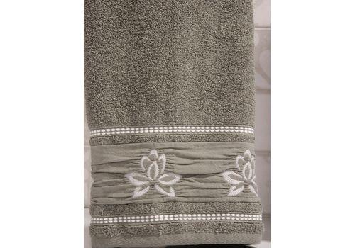 """Махровое полотенце 50х90 """"Flower"""" хаки, фото 2"""
