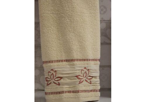 """Махровое полотенце 50х90 """"Flower"""" бежевый, фото 2"""