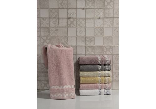 """Махровое полотенце 70х140 """"Gravel"""" розовый, фото 1"""