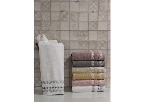 """Махровое полотенце 70х140 """"Gravel"""" белый, фото 1"""
