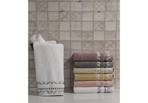 """Махровое полотенце 50х90 """"Gravel"""" белый, фото 1"""