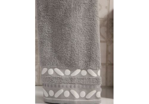 """Махровое полотенце 50х90 """"Gravel"""" серый, фото 2"""