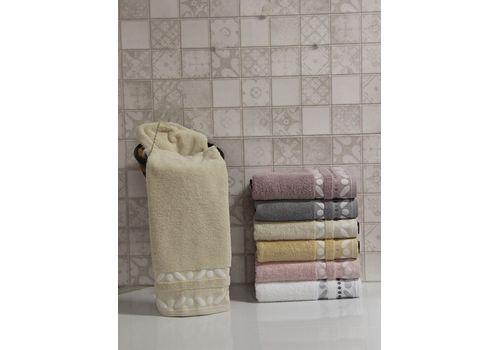 "Махровое полотенце 50х90 ""Gravel"" кремовый, фото 1"