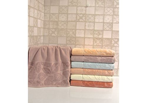"""Махровое полотенце 70х140 """"Kismi Kadife"""" 6шт, фото 2"""